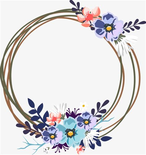 Spring Decoration by Vector Wedding Decorative Garland Wreath Decoration
