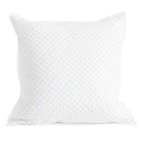 Stich Pillow by Cross Stitch Quilted Decorative Pillow Cover In Fern By