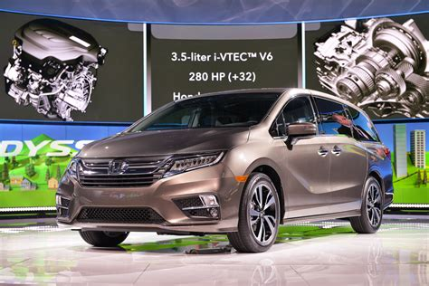 honda debuts 2018 odyssey project 2018 honda odyssey debuts with 280 hp v 6 10 speed auto