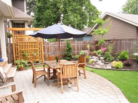 Patio Makeover by Small Backyard Makeover Srp Enterprises Weblog