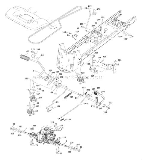 engine diagram parts list for model yth20k46 husqvarna