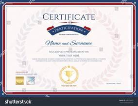 certificate participation template sport theme gold stock