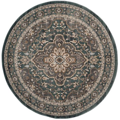 7 X 7 Area Rugs Safavieh Lyndhurst Teal Gray 7 Ft X 7 Ft Area Rug Lnh338a 7r The Home Depot