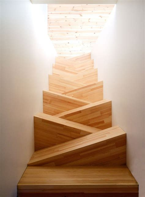 awesome designs  alternating small stair treads
