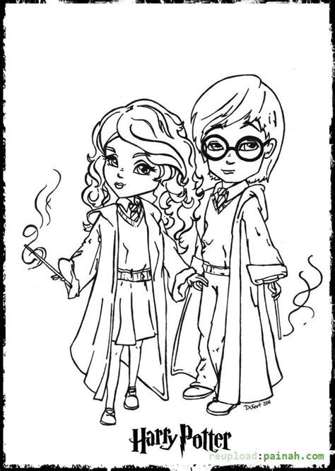 Harry Potter Cartoon Coloring Pages | harry potter coloring pages printable cartoon cute