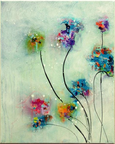 how to acrylic paint on canvas abstract flower painting original abstract painting acrylic