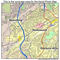 aerial photography map of homewood al alabama