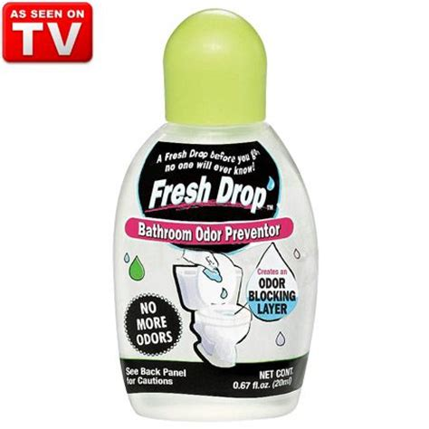 fresh drop bathroom odor preventor fresh drop