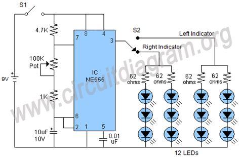 bike led indicator circuit bicycle turn indicator circuit diagram