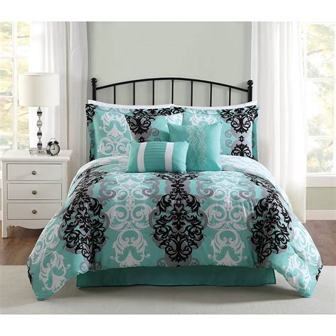 turquoise brown comforter sets delboutree charcoal gray turquoise bedding sets sale
