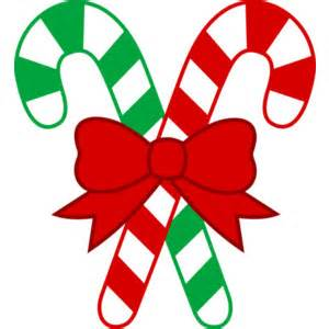 Christmas candy canes with bow free clip art polyvore