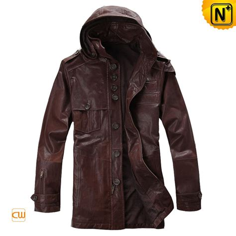 hooded leather jacket mens s hooded leather jacket designer fashion removable hooded leather coats cw871280