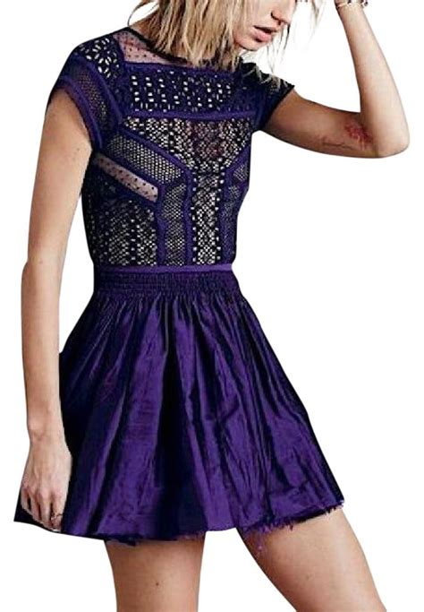 Free Fp Poopsy Floral Dress Branded Murah free purple free embroidered fit and flare floral mini large dress tradesy