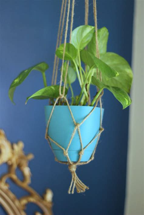 Twine Plant Hanger - make it diy twine macrame plant hanger who give