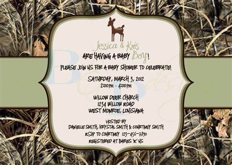 camouflage invitation template how to throw camouflage themed baby shower free