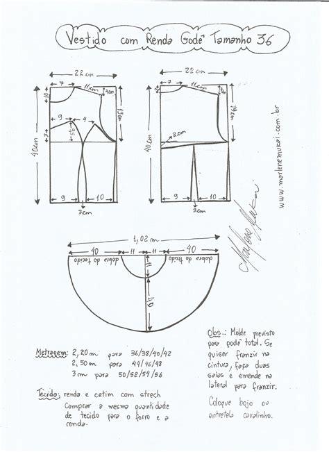 esquema de vestido vestido com renda god 234 diy molde corte e costura