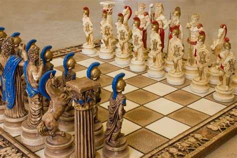 Handmade Chess Set - ceramic handmade chess set gods of olympus big