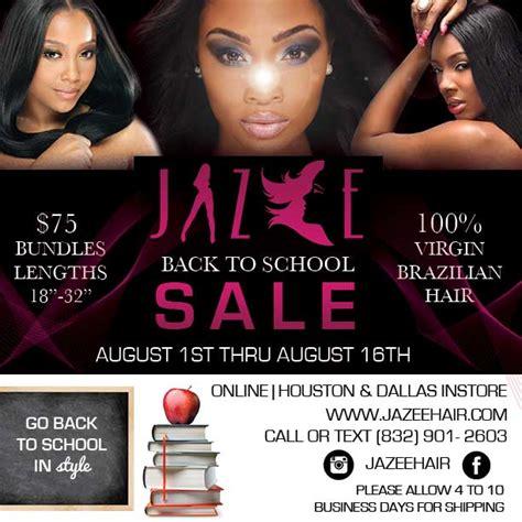 jazee hair back to school sale 75 bundles thru aug 16th jazee