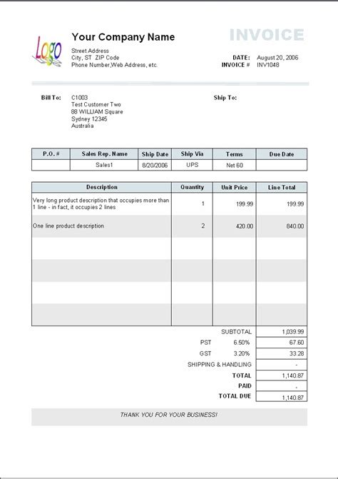 paid invoice receipt template invoice template ideas
