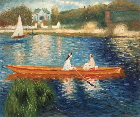 boats on the seine renoir boating on the seine reproduction art
