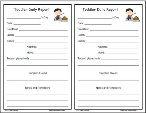 preschool weekly report template infant blank lesson plan sheets cing daily forms for infants toddlers and