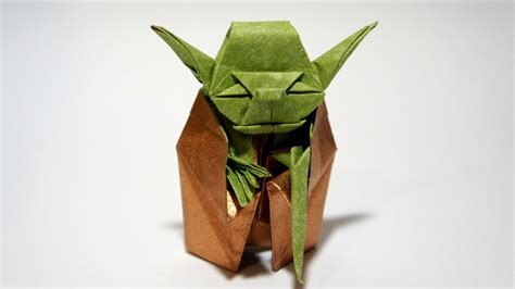 How To Make An Origami Yoda - origami jedi master yoda fumiaki kawahata wars