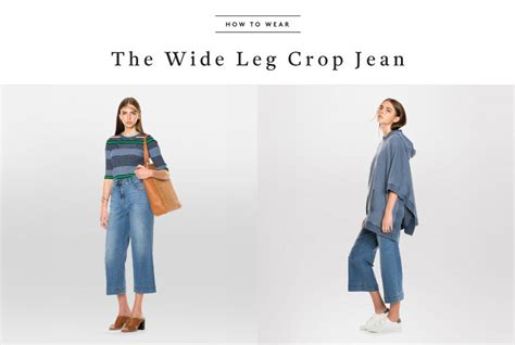 Dressing Up Wide Leg Make Them Your Fashion Forward Denim Choice by How To Wear The Wide Leg Crop Jean