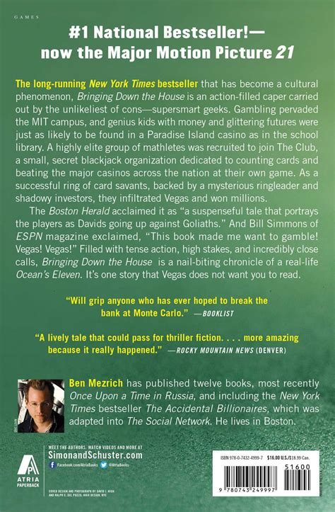 bringing down the house book bringing down the house book by ben mezrich official publisher page simon schuster