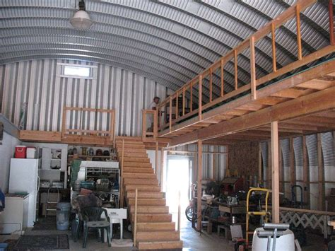ideas for building a home two tiered garage inside of an s style steel building