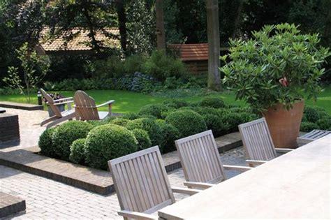 tuin op het noorden terras aanleg tuin in nieuwbouwwijk of nieuwbouwwoning