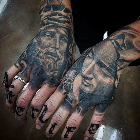 tattoo hand jesus 100 jesus tattoos for men cool savior ink design ideas