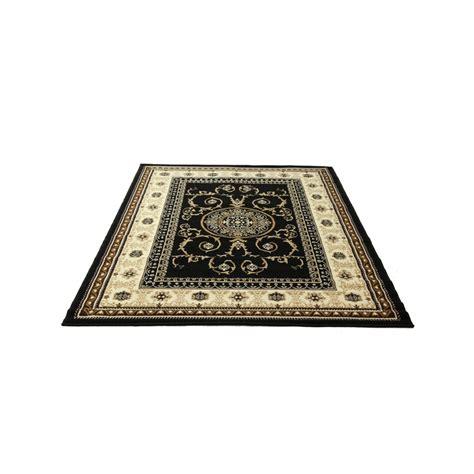 warehouse rugs hufflett 160 x 225cm antalya classic black rug bunnings warehouse