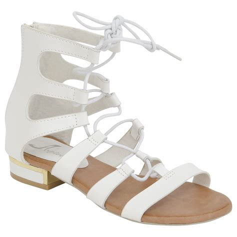 Flat Shoes Dm 98 1 new womens ankle high gladiator flat sandals summer shoes size size 3 8 ebay