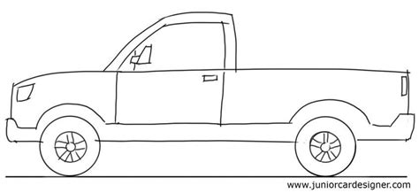 kid car drawing car drawing tutorial pick up truck view junior car