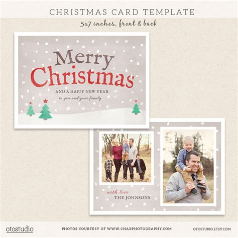 photoshop postcard template digital photoshop card template for by otostudio