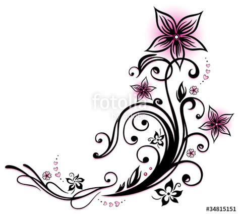 quot ranke flora blumen bl 252 ten herzen love pink