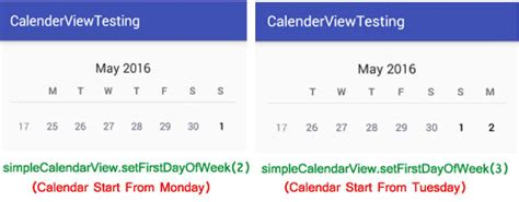 android studio calendar tutorial calendar view tutorial with exle in android studio