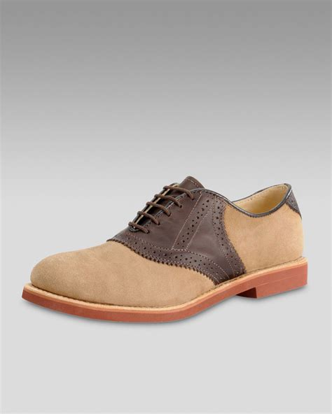 walkover shoes walk nubuck saddle shoe in brown for brown