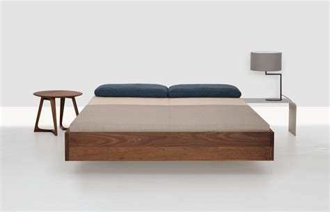 simple beds simple double bed 160 x 200 cm walnut by zeitraum