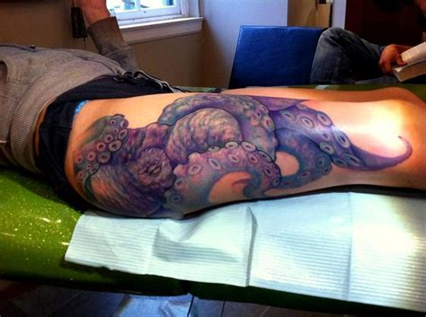 octopus thigh tattoo 25 best ideas about octopus thigh tattoos on