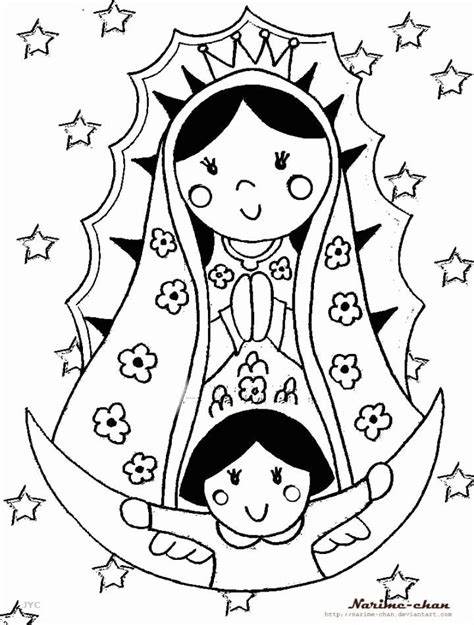 our lady of guadalupe coloring pages coloring home