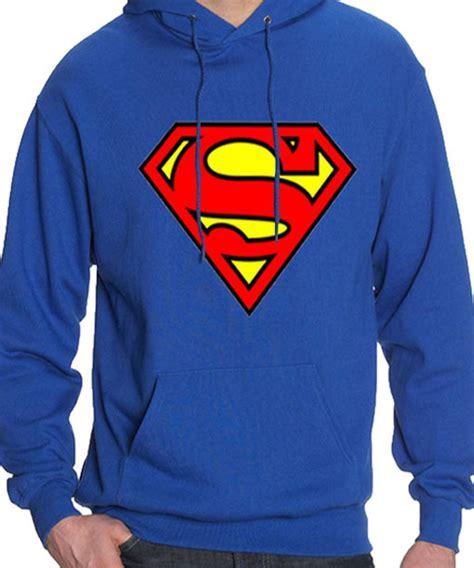 Hoodie Superman Blue blue pullover superman hoodie