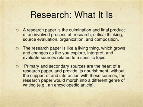what is the introduction of a research paper what is a research paper research writing unit of study