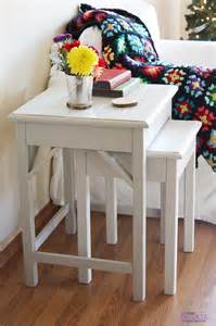 Living Room End Table Plans White Nesting Side Tables Diy Projects