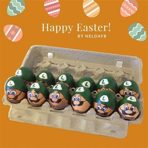 Egg Mario Bros diy easter eggs luigi mario bros dori craft