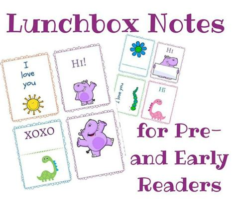 printable lunchbox notes lunchbox notes free printables for preschoolers and