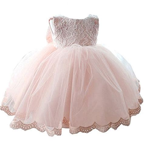 nnjxd tulle flower princess wedding dress for toddler and baby pink 12 18 months