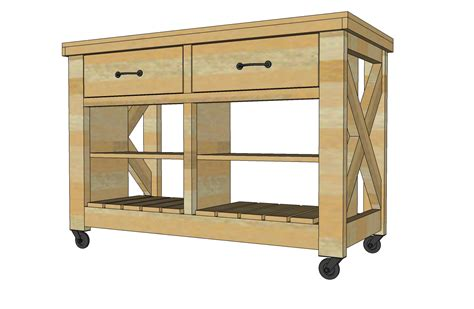 kitchen island cart plans white rustic x kitchen island diy projects