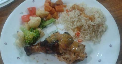 Makanan Rumahan Ala Dapur Isna dapur anak gadis resepi ayam bakar ala nandos sweet potato with garlic dan nasi madeteranian