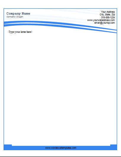 Microsoft Letterhead Templates by Ms Word Business Letterhead Templates Word Excel Templates